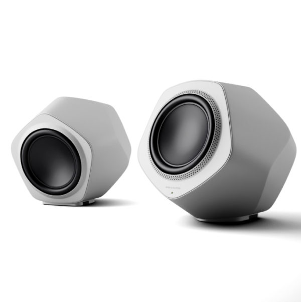 zilver en wit beolab speakers